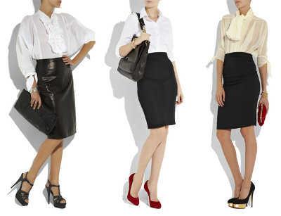 dbc31bfa8 Corta o larga? La falda ideal para lucir en el trabajo   Oficina ...