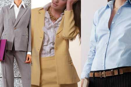 Modelos de blusas para combinar un traje sastre  770817a1c182