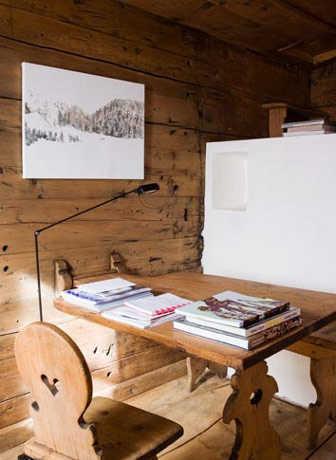 Te gustar a una oficina al estilo r stico oficina femenina for Escritorios rusticos para oficina