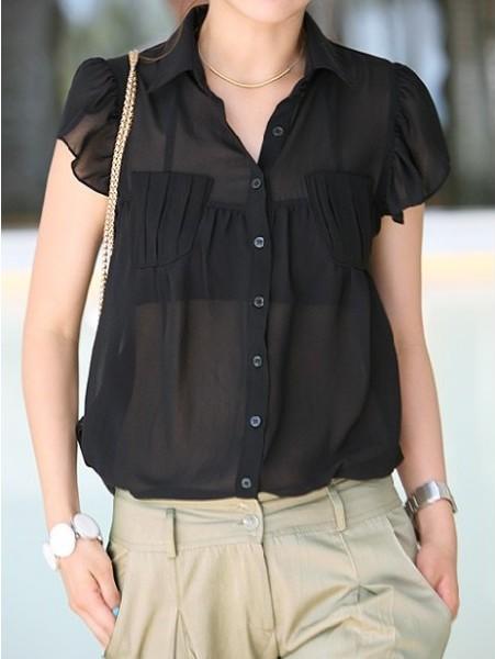 Súper femenina con tus blusas de gasa en la oficina | Oficina Femenina