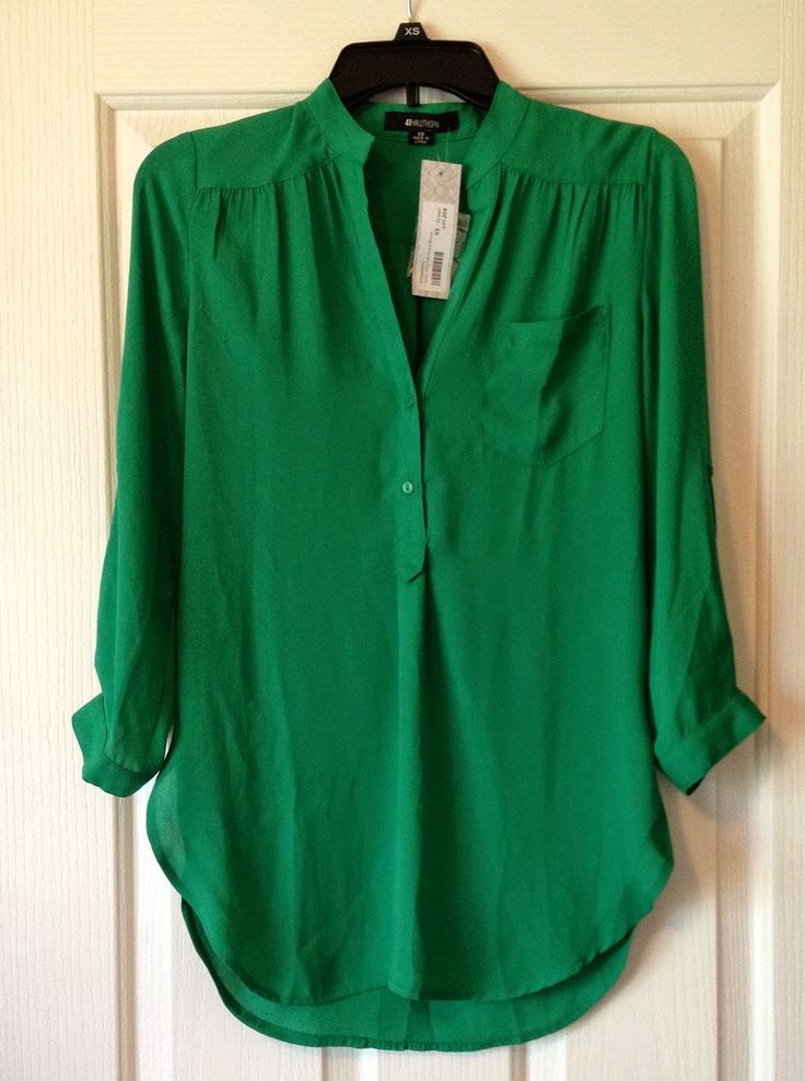 Emerald Green Shirt Womens